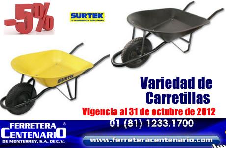 Variedad de Carretillas marca SURTEK en OFERTA