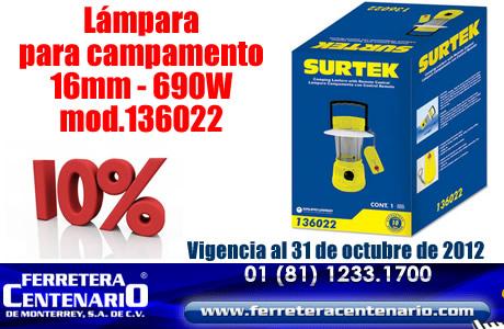 Lámpara para Campamento marca SURTEK en oferta!!