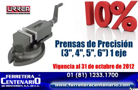 Prensas de Precisión marca URREA con descuento!!