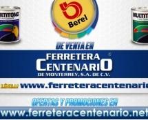 Venta de pinturas BEREL MULTITONO en Ferretera Centenario de Monterrey