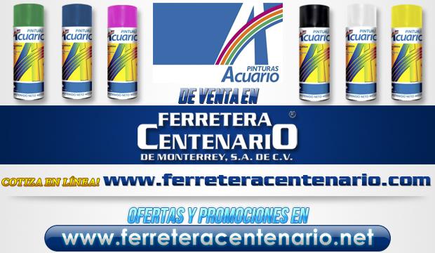 Pinturas ACUARIO de venta en Ferretera Centenario de Monterrey