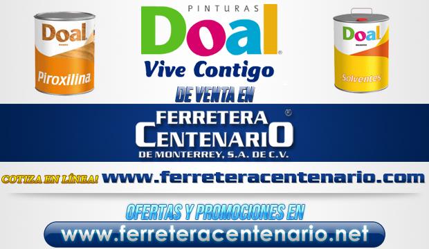 Pinturas DOAL de venta en Ferretera Centenario de Monterrey