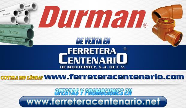 Productos DURMAN de venta en Ferretera Centenario de Monterrey