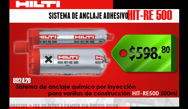 Sistema de anclaje Adhesivo Hilti