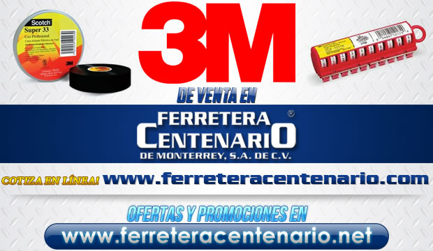Productos de la marca 3M de venta en Ferretera Centenario