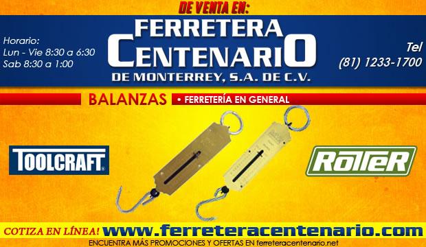 balanzas basculas ferretera centenario monterrey ferreteria