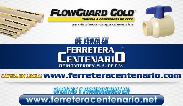 Tuberias y conexiones de CPVC marca FlowGuard Gold