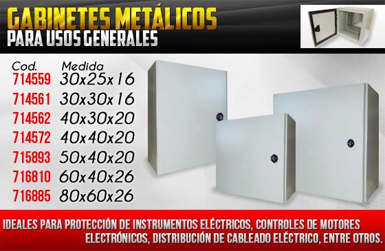 Gabinetes metálicos para usos múltiples de venta en Ferretera Centenario
