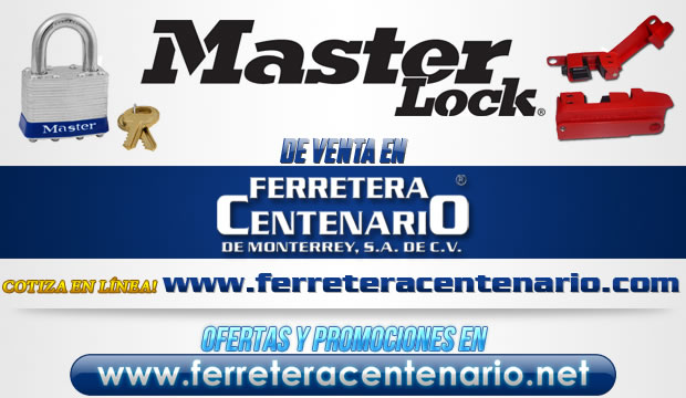 Productos MASTER LOCK de venta en Ferretera Centenario