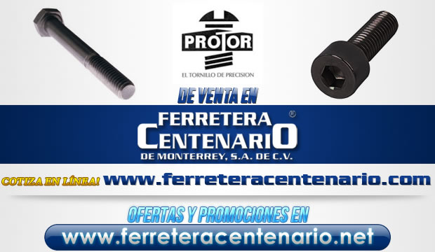 Protor tornillos venta Monterrey Mexico