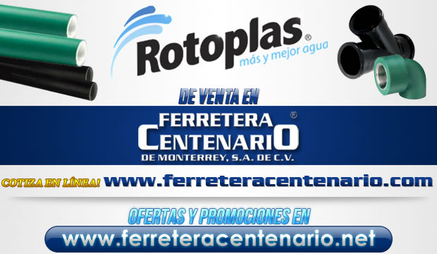 Tuberías de PVC ROTOPLAS de venta en Ferretera Centenario