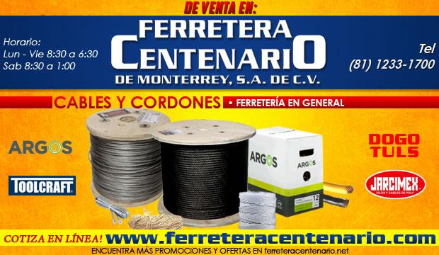 cables y cordones ferretera centenario monterrey
