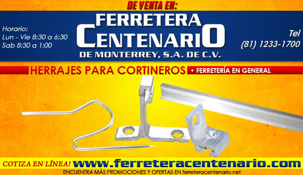 Herrajes para Cortineros