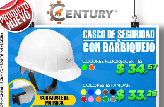 cascos de seguridad con barbiquejo ferretera centenaio de monterrey Century