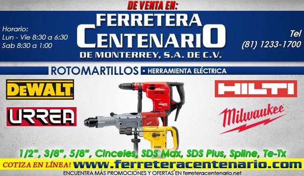 rotomartillos herramientas electricas ferretera centenario monterrey