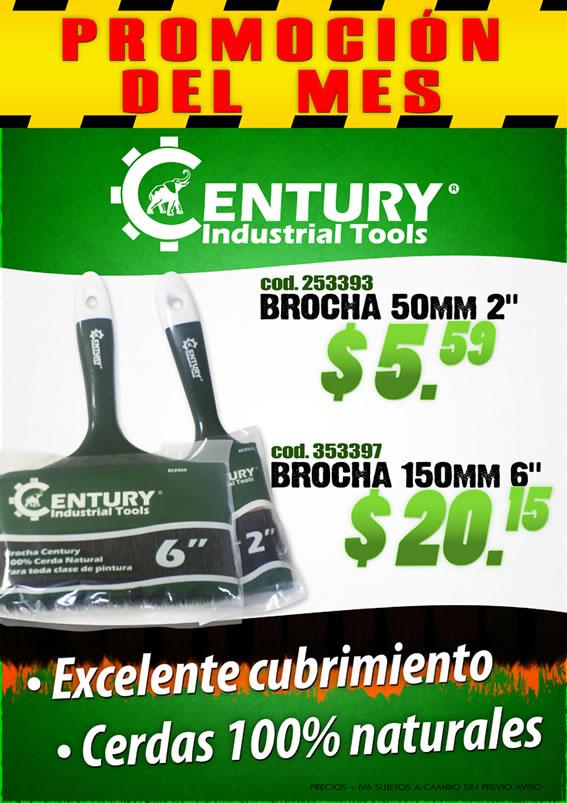 Brochas Century Industrial tools ferretera centenario de monterrey