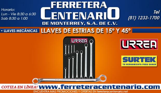 juego llaves de estrias de 15 y 45 grados ferretera centenario de monterrey ferreteria llaves mecanicas