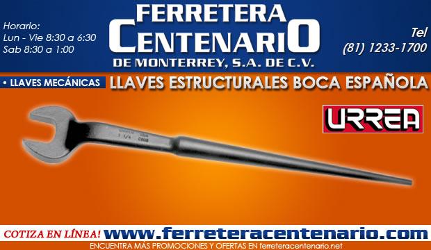 llaves estructurales de boca española ferretera centenario de monterrey herramientas manuales llaves mecanicas