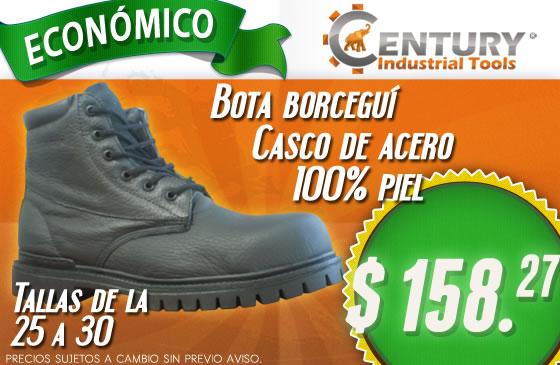 Económica bota Borceguí con casco de acero