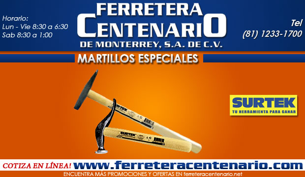 Martillos especiales Surtek