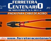 Pinzas para cables de acero