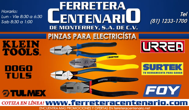 Pinzas para electricistas