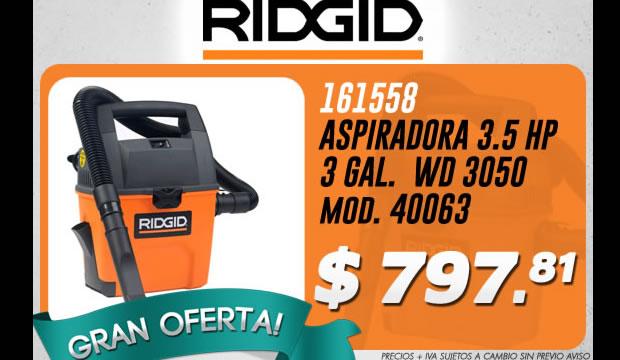 aspiradora ridgid oferta ferretera centenario de monterrey