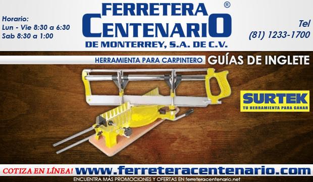 guias de inglete herramientas para carpinteria ferretera centenario de monterrey