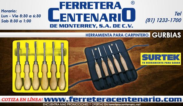 gurbias surtek kit set herramientas carpinteria carpinteros ferretera centenario de monterrey