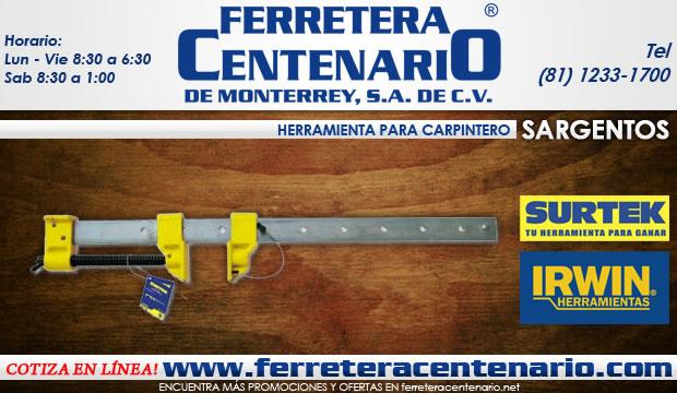 sargentos herramientas para carpintero ferreteria ferretera centenario de monterrey
