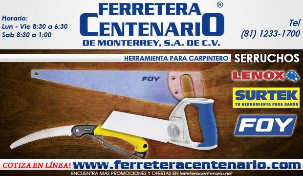 Serruchos de las marcas Lenox, Surtek y Foy.