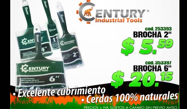 oferta brochas herramientas pintor century industrial tools ferretera centenario de monterrey