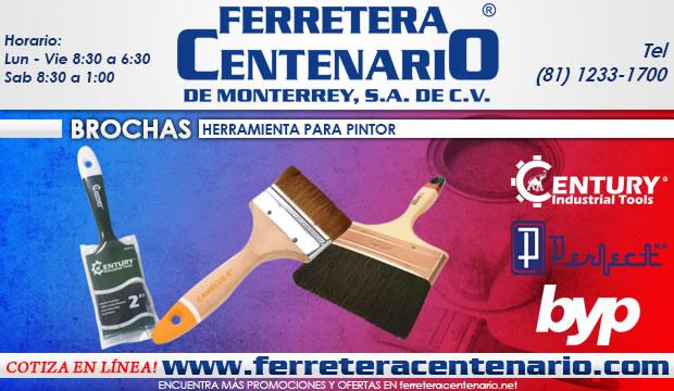 brochas herramientas pintor pintura ferretera centenario de monterrey