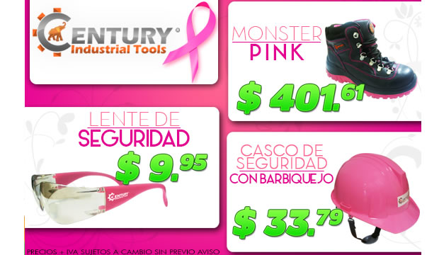 century industrial tools pink
