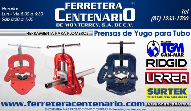 prensas de yugo para tubo ferretera centenario de monterrey herramientas plomeria pomeros