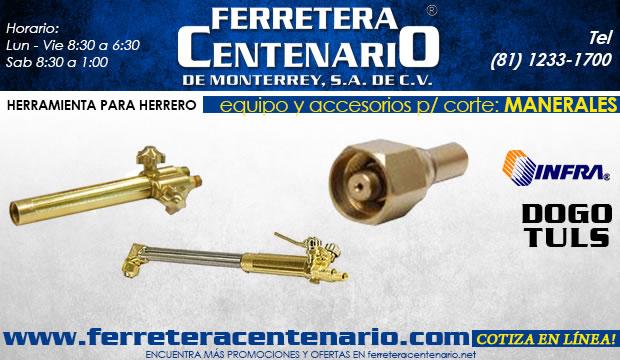 manerales equipos  accesorios para corte herreria herrero herramientas ferretera centenario de monterrey