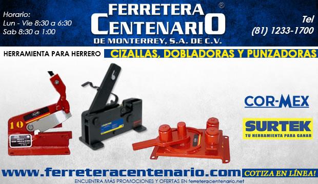 cizallas dobladoras punzadoras ferretera centenario de monterrey herramientas herrero