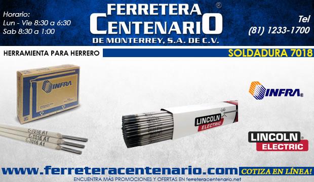 soldaduras 7018 ferretera centenario de monterrey herramientas
