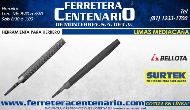 limas mediacaña ferretera centenario d emonterrey ferreteria herramientas  herrero herreria surtek bellota