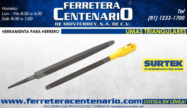 limas triangulares surtek ferretera centenario dem onterrey herramientas