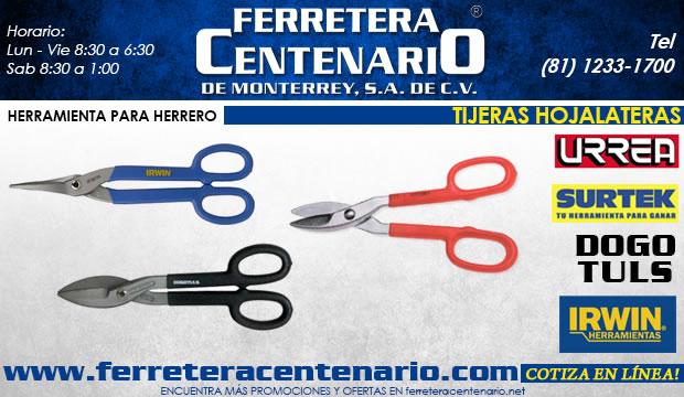 tijeras hojalateras ferretera centenario de monterrey herramientas