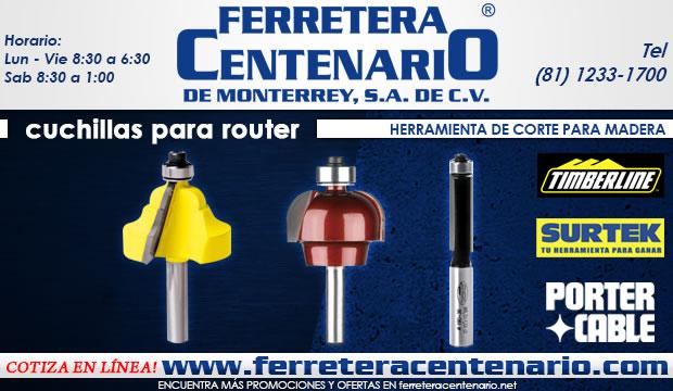cuchillas para router ferretera centenario de monterrey herramientas corte concreto