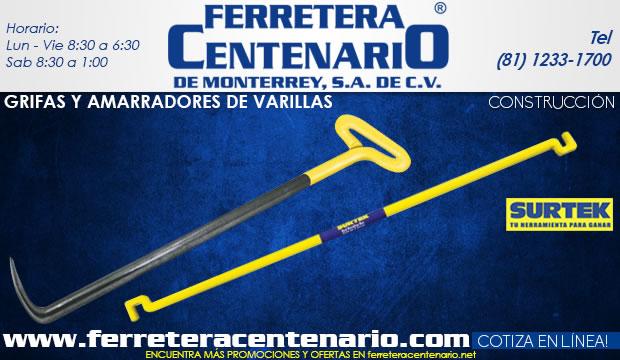 grifas amarradores varilla ferretera centenario de monterrey herramientas construccion