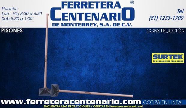 pisones construccion herramientas ferretera centenario de monterrey