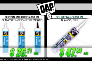 Silicón Multiusos y Poliuretano marca DAP