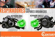 Respiradores para vapores orgánicos