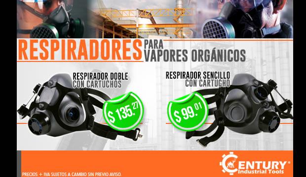 respiradores para vapores organicos ferretera centenario de monterrey herramientas Century Industrial Tools
