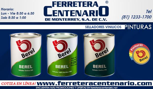 selladores vinilicos Berel pinturas ferretera centenario de monterrey