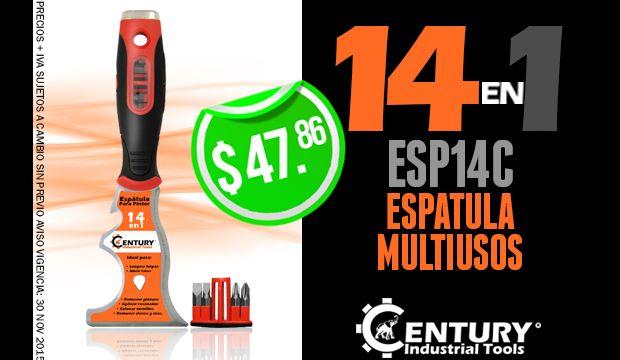 espatula multiusos 14 en 1 century industrial tools ferretera centenario de monterrey mexico