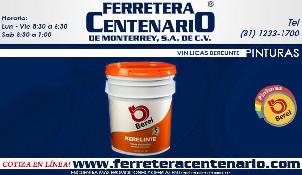 vinilicas berelinte Berel ferretera centenario de monterrey mexico